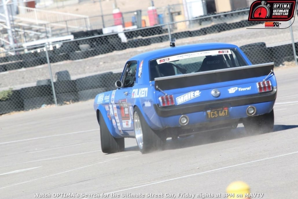 old blue mustang 1